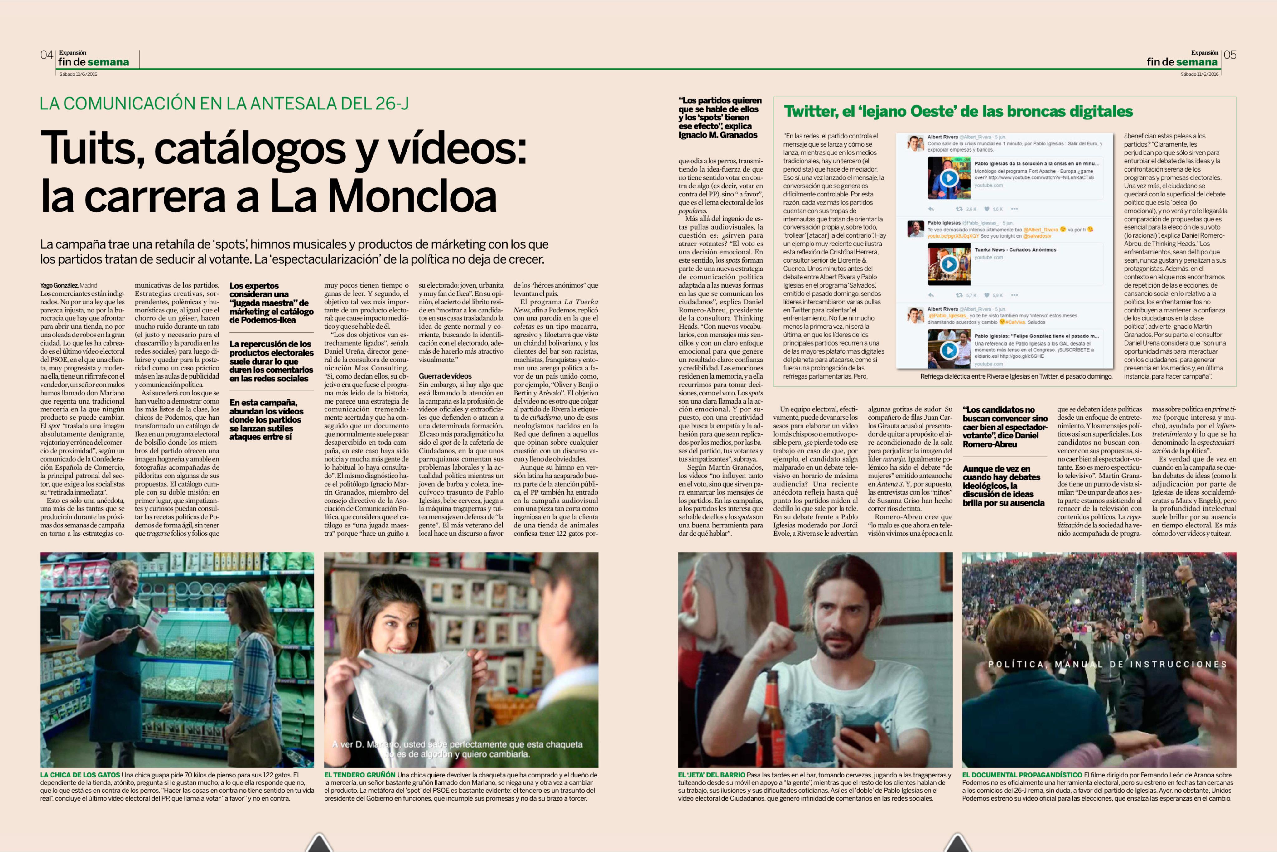 Tuits, catálogos y vídeos: la carrera a La Moncloa